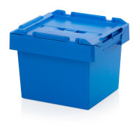 Mehrwegbehälter mit Deckel, 400x300x290 mm, Himmelblau