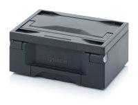 Toolboxen Pro, ohne Schloss, 400x300x175 mm, Box dunkelgrau, Deckel dunkelgrau