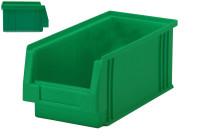 Sichtlagerkasten PLK 3a, grün, aus PP, 290x150x125 mm