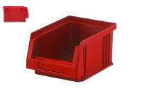 Sichtlagerkasten PLK 4, rot, aus PP, 164x105x75 mm