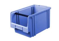 Sichtlagerkasten LK 2a, blau mit Tragestab, 350x200x200 mm