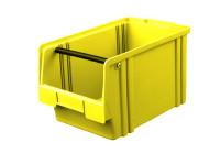 Sichtlagerkasten LK 2a, gelb mit Tragestab, 350x200x200 mm