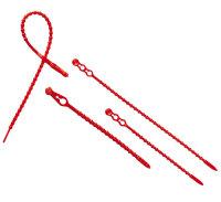 Blitzbinder,  24 cm lang  -   rot,  aus Kunststoff