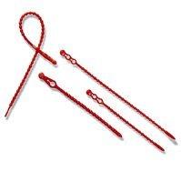 Blitzbinder, 12 cm lang, rot, aus Kunststoff