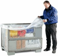 PE-Seitenfaltensack, 1300+950x1475mm, 50µ, transp., 100 St./Rolle, perforiert