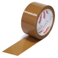PP-Klebeband, 50 mm breit x 66 lfm, Stärke 48 µ, leise, braun, monta 610