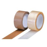 PP-Packband, leise, Acrylat, transparent 50mm x 66lfm., 48µ Trägerfolie