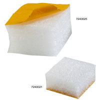 Schaumpads, 75x75x50mm, weiß, 30kg/qm Raumgewicht, selbstklebend, stark haftend