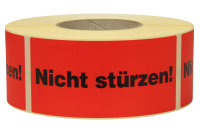 Warnetiketten, 145 x 70 mm, aus Papier, mit Aufdruck,...