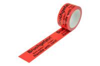 """Warn-Klebebänder, 50 mm breit x 66 lfm, mit Aufdruck """"Bruchgefahr"""""""