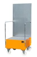Fahrbare Auffangwanne mit Lochplattenwand LPW 200-1,...
