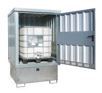 Gefahrstoff-Depot GD-E/IBC, verzinkt, 1535x1590x2470 mm