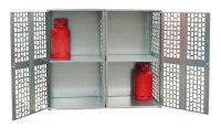 Gasflaschen-Depot GFD-L 2, verzinkt, 1680x690x1475 mm