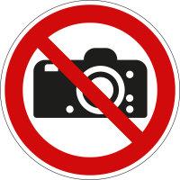 """Verbotsschild """"Fotografieren verboten""""..."""
