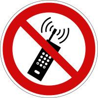 """Verbotsschild """"Mobilfunk verboten""""..."""