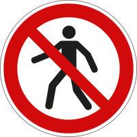"""Verbotsschild """"Für Fußgänger..."""