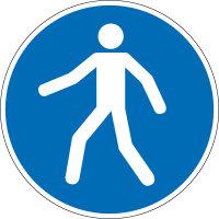 """Gebotsschild """"Fußgängerweg benutzen""""..."""