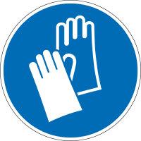 """Gebotsschild """"Handschutz benutzen""""..."""