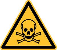 """Warnschild """"Warnung vor tödlicher Gefahr""""..."""