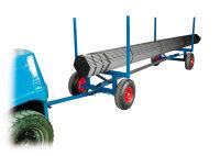 Langgutwagen, 4000x1270x640 mm, 3500 kg Tragfähigkeit, Blau, luftbereift