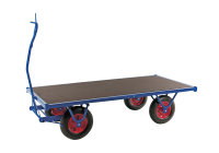 Schwerlastwagen, 2000 x 1000 mm, 1500 kg Tragfähigkeit, Blau, luftbereift