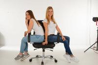 Drehstuhl Sitz: Buche, gebeizt, schwarz, mit...