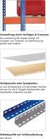 Weitspannregal Z1 als Stecksystem, mit Stahlpaneelen,...