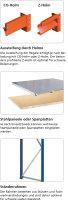 Weitspannregal W100 als Stecksystem, mit Stahlpaneelen,...