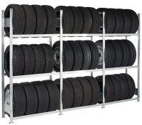 Räder- /Reifenregal mit Stecksystem, verzinkt mit 4...