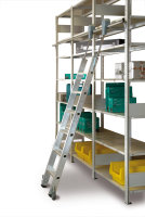 Aluminium Regalleiter fahrbar - 8 Stufen