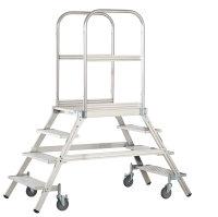 Aluminium Podestleiter,3 Stufen - inkl.Plattform, Arbeitsh. 2700 mm