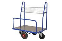 Baumarktwagen, 1000x700x1250 mm, 500 kg Tragfähigkeit, Blau, luftbereift