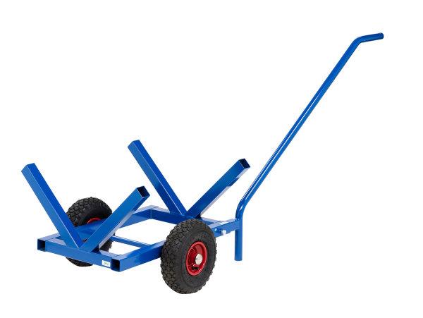 Langgutwagen, 1600x600x750 mm, 200 kg Tragfähigkeit, Blau, luftbereift