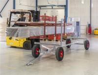 Langgutwagen, 3000x1270x600 mm, 2500 kg Tragfähigkeit, Verzinkt, luftbereift