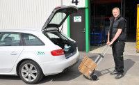 Gepäck- & Sackkarre, 570x540x1090 mm, 125 kg Tragfähigkeit, Grau / Schwarz