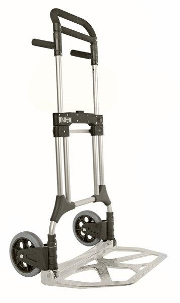 Gepäck- & Sackkarre, 600x600x1125 mm, 200 kg Tragfähigkeit, Grau / Schwarz