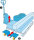 Palettenroller, mit Lenkrollen für Europaletten, 2000 kg Tragfähigkeit, Verzinkt
