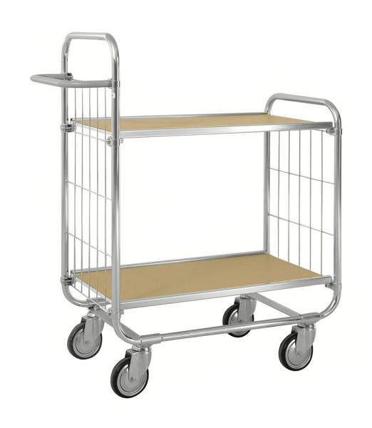 ESD-Etagenwagen mit 2 flexiblen Böden, 250 kg Tragfähigkeit