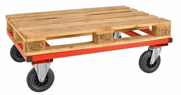 Palettenwagen, 800 kg Tragfähigkeit, Rot, für Paletten mit 1200x800 mm