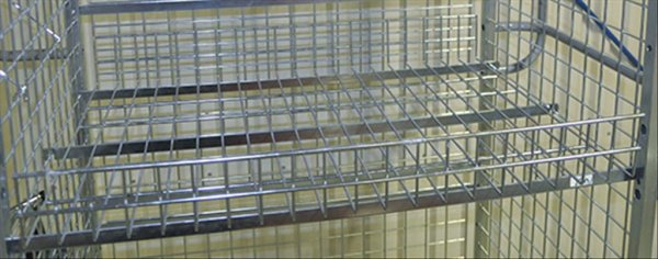 Modul 300 Gitterboden, 885x615x100 mm, 100 kg Tragfähigkeit, Elektrolytisch verzinkt