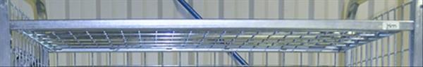 Modul 300 Gitterboden, 845x615x20 mm, 100 kg Tragfähigkeit, Elektrolytisch verzinkt
