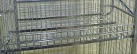 Modul 300 Gitterboden, 1285x615x100 mm, 100 kg Tragfähigkeit, Elektrolytisch verzinkt