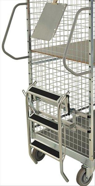Modul 600 Leiter, 540x450x650 mm, 130 kg Tragfähigkeit, Elektrolytisch verzinkt